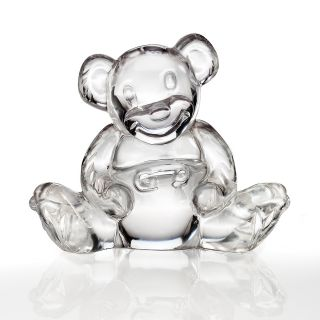 waterford crystal teddy bear figurine price $ 100 00 color clear