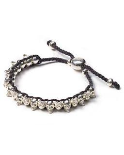 Links of London Mini Skull Gray Friendship Bracelet