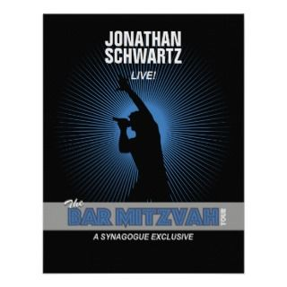 Rock Star Bar Mitzvah Reply Card in Blck/Silv/Blue Personalized Invite