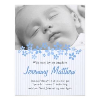 Little Boy Birth Announcement