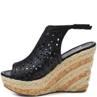 Desert Wedge   Black, Ciao Bella, $59.99