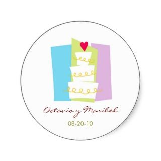 Wedding Cake Stickers / Calcomanias, Recordatorios stickers by