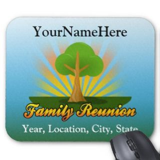 Green Tree Family Reunion Logo Mouse Pad
