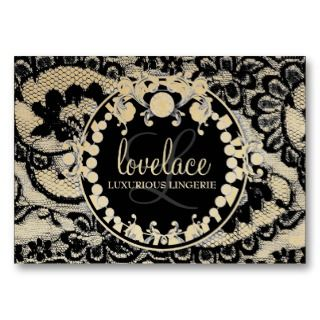 Lace de Luxe   Circque D Zebra Metallic Gold Business Card Template