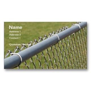 of a metal chain link fence business card templates