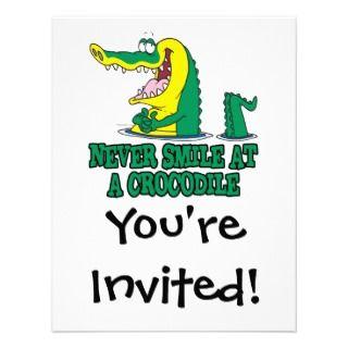 never smile at a crocodile invite