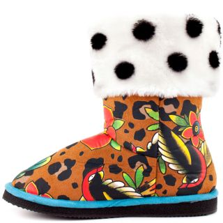 Iron Fists Multi Color Lounge Leop Fugg Boot   Leopard for 49.99