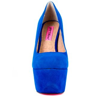 Betsey Johnsons Blue Giselle   Blue Suede for 109.99