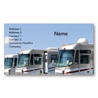 Business Cards, 24 Recreational Vehicle Business Card Templates