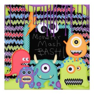 Custom Little Monster Birthday Invites