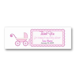 Business Cards, 470 Baby Shower Favor Tags Business Card Templates