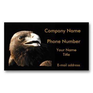 Golden Eagle Portrait Business Card Templates