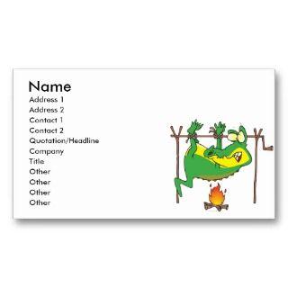 funny alligator gator cartoon Business Card Templates