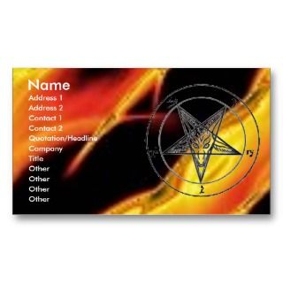 Baphomet Fire Business Card Templates