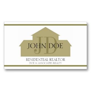Realtor Gold House W/W Business Card
