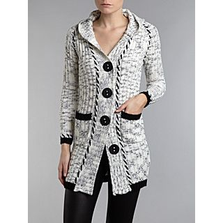 £ 15 00 was £ 28 00 izabel london cable knit hooded cardigan