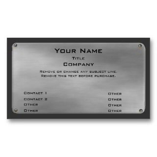 size 4 metal business card font size 4 see more metal style business
