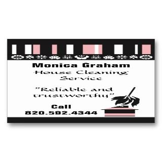 House Cleaning retro business card EZ fill in