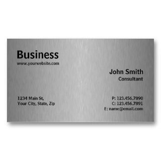Professional Metal Elegant Modern Plain Business Card