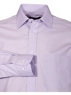Double TWO Non iron poplin long sleeve shirt Lilac