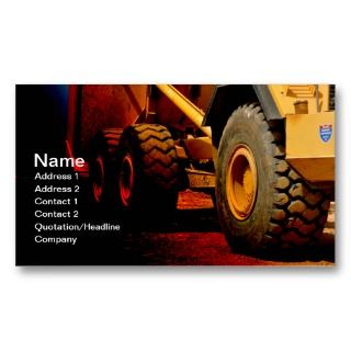 duty construction equipment business card templates
