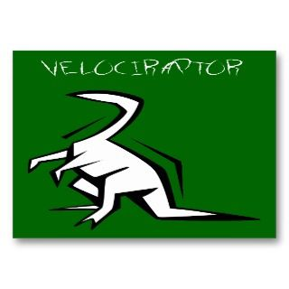 Velociraptor Coloring/Info Business Cards