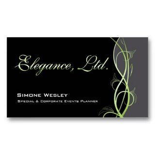 Events Planner Coordinator Business Card Templates