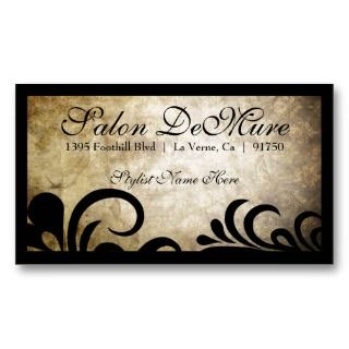Modern Sophisticated Designer Salon Business Card