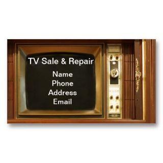 Sale and Repair Services Business Card Template