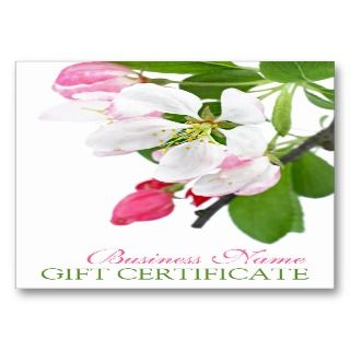 Spring Blossom Gift Certificate Template. Fully customizable and