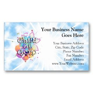 Child of God, Pastel Business Card
