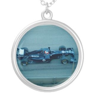 Blue Racing Car Necklace