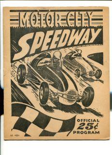 Speedway Midget Auto Race Program 1949 Unique Hanks Katona Good
