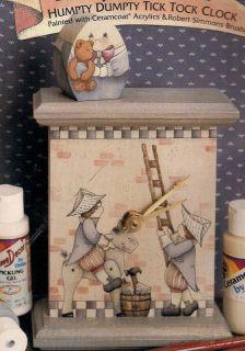 Kathi Walters Pre Release Humpty Dumpty Clock Decorative Tole Painting