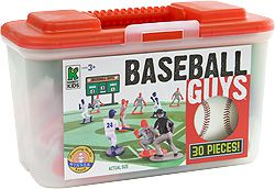 Kaskey Kids Baseball Guys Red Blue Teams Sports Action Figures Brand