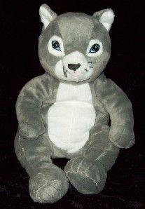 IKEA Gosig Katt Gray White Plush Kitty Cat Stuffed Toy Grey Kitten