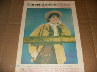 ENTERTAINMENT 1968 Newspaper KAYE BALLARD Edward G. Robinson VALLEY OF