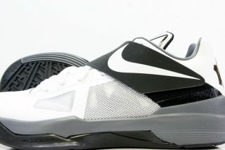 Nike Zoom KD IV White Black Cool Grey Sz 8 5 13 Nike Kevin Durant 4