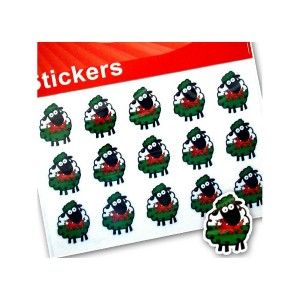 Sheep Dragons Sheet of 15 Miniature Decal Car Stickers Wales