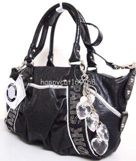 Kathy Van Zeeland City Lights Satchel Handbag Black KVZ 4050