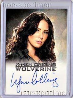 is a mint x men origins wolverine lynn collins autograph kayla silver