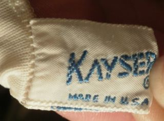 Vintage Kayser White Nylon Full Slip Embroidered Chiffon Trim 36