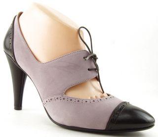 Via Spiga Kelis Blush Suede Brown Womens Designer Shoes Lace Up Pumps