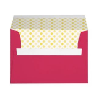 Canary Yellow Polka Dot Blank Address Labels
