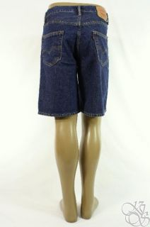 Levis Jeans 550 Relaxed Fit Dark Stone Wash Denim Mens Shorts New