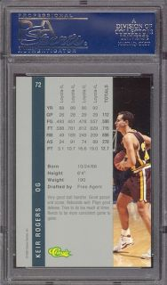 1992 Classic 4 Sport Gold 72 Keir Rogers PSA 10 Pop 1