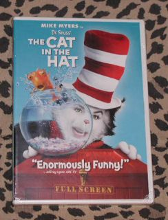 New SEALED Dr Seuss The Cat in The Hat DVD Disc Movie Full Screen Mike