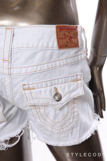 True Religion New Womens Ladies Keira Row Seat Jeans Shorts White Size