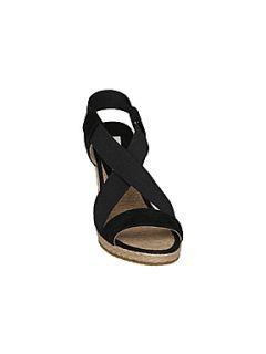 Dune Generation d diamante espadrille wedge sandals Black