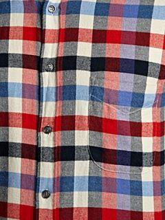 Hugo Boss Flannel checked long sleeved shirt Red